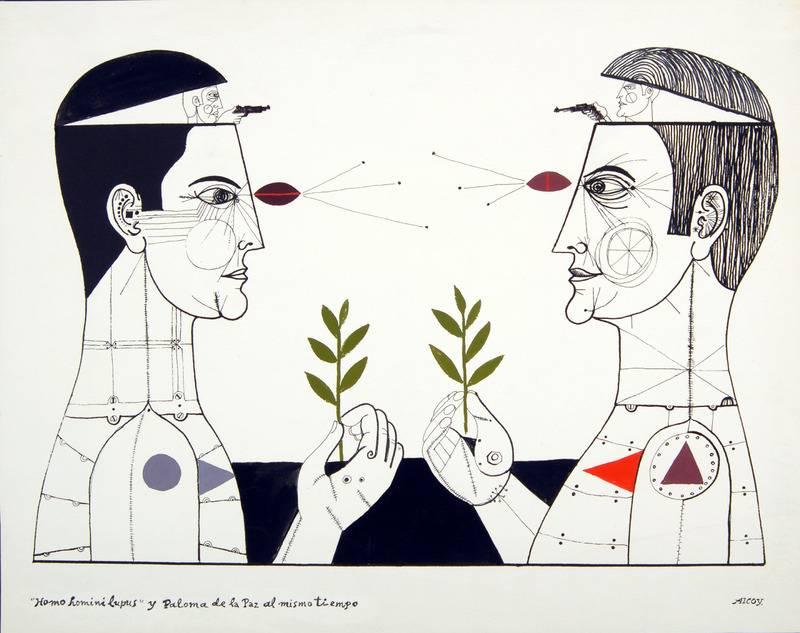 """""""Homo homini lupus"""" y paloma de la paz al mismo tiempo"""