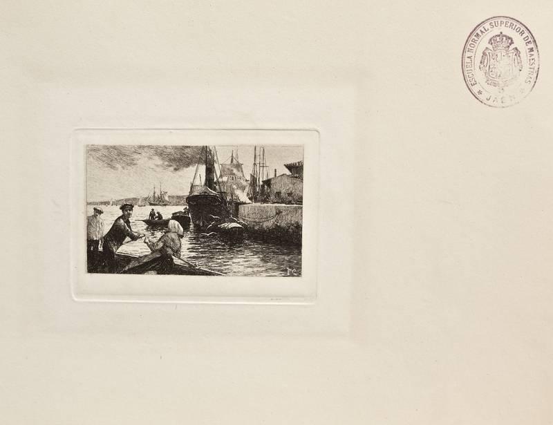 Barca de remos en el puerto